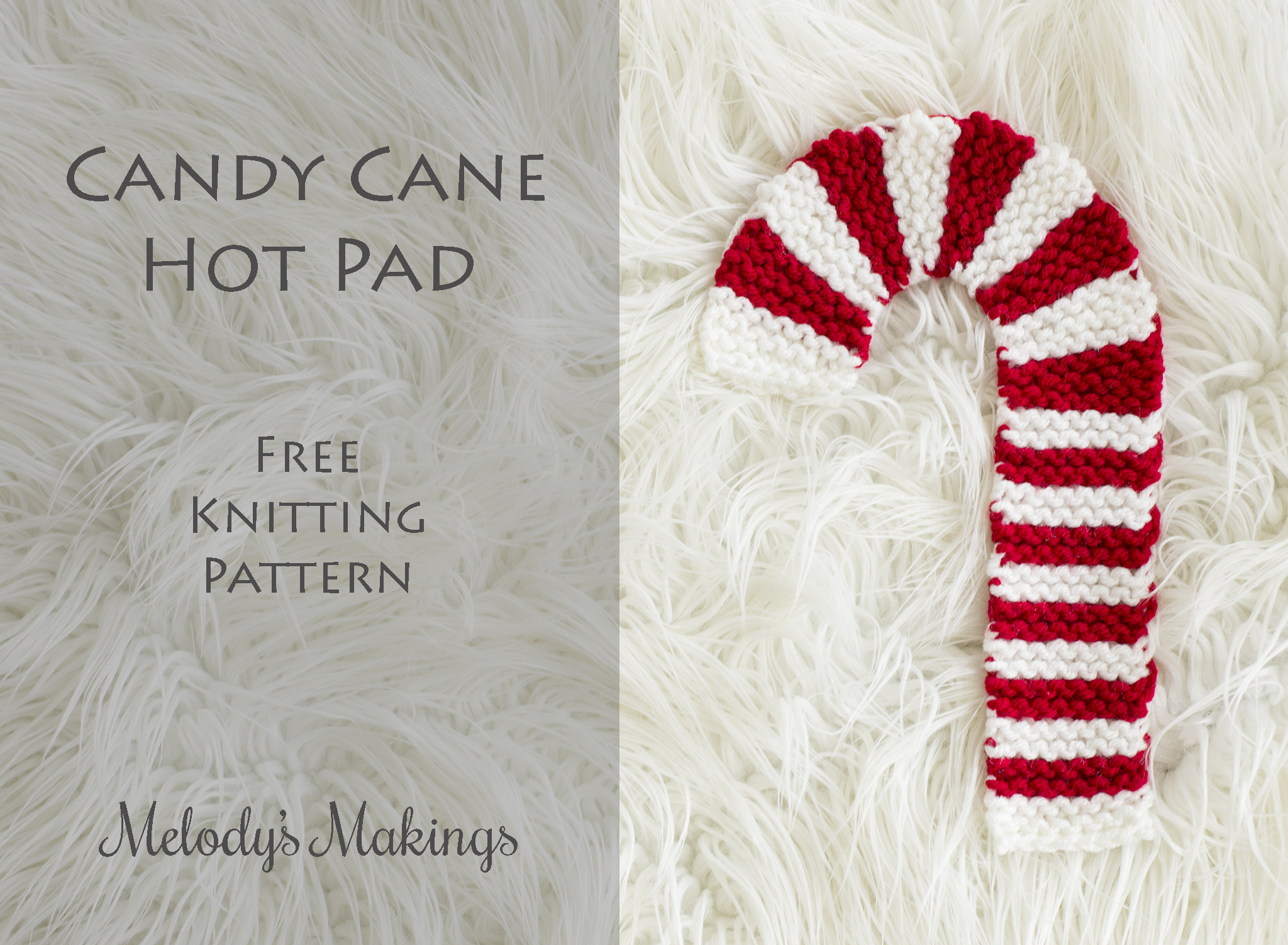 Candy Cane Hot Pad