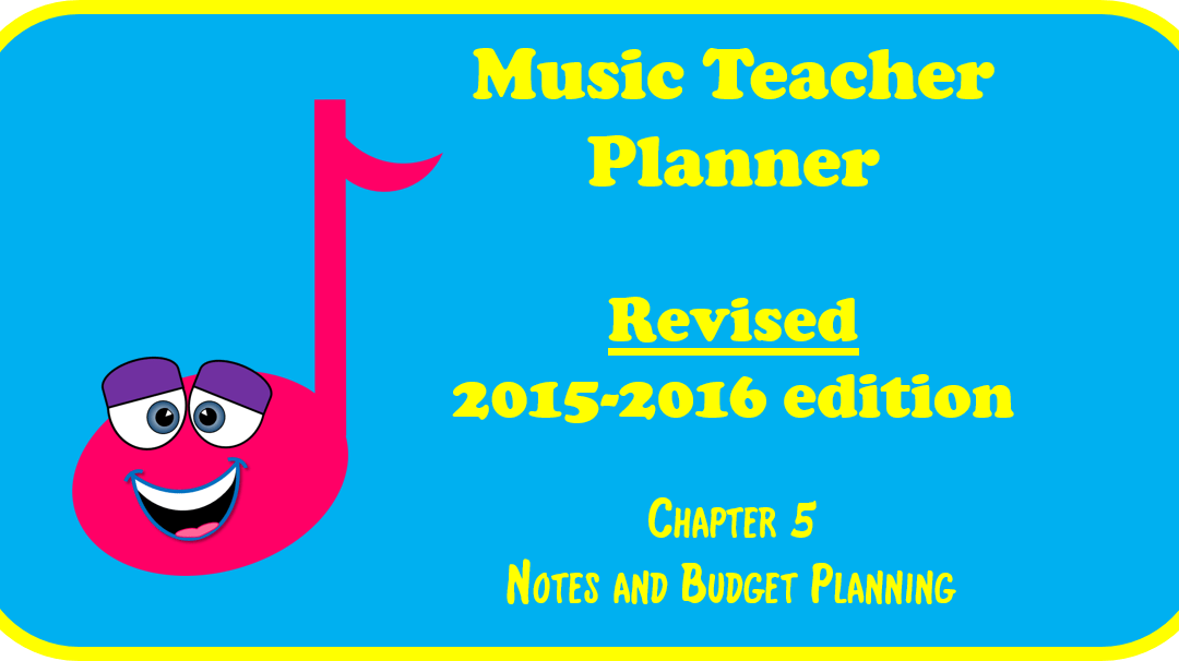 2015-2016 Music Teacher Planner – Chapter 5