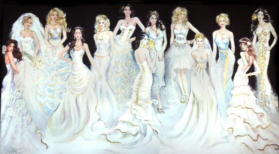 Beautiful Brides Jeweled Painting