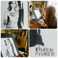 Live Fashion Illustration for Eileen Fisher
