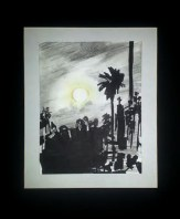 """Laguna Moon"" Sketched from life on the Blue Moon in Laguna beach $100"