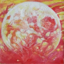 """Fiery Moon"" SOLD"