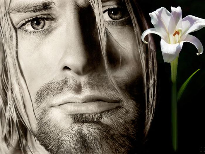 Painting of Kurt Cobain - Unfinished