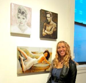 Melody Owens at Broadway Gallery & NY Arts Opening Reception NYC