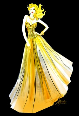 melody-owens-fashion-illustration-gold-dress-art-black-drawing-live