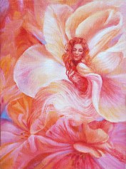 Dawn of the Flower Dancer fire maiden painting