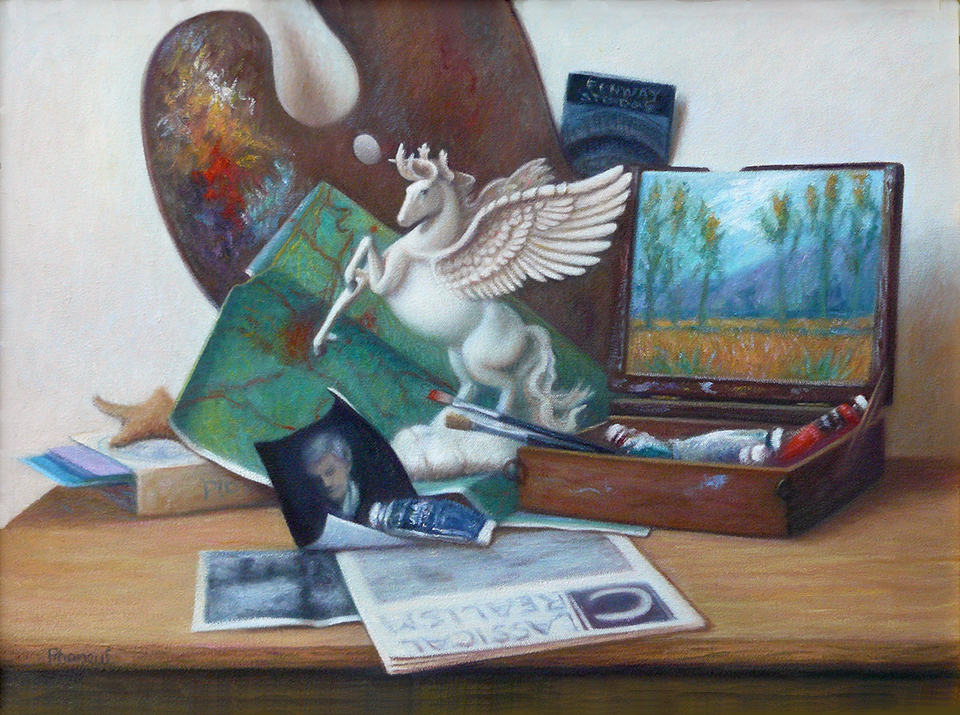 """Still Life Oil Painting by Melody Phaneuf titled """"Bio"""""""