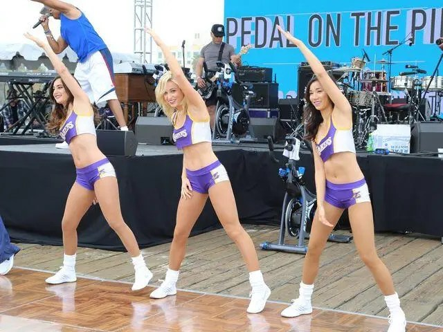 waybackwednesday – 2017 Pedal on the Pier with Dion Jackson and the Laker Girls.