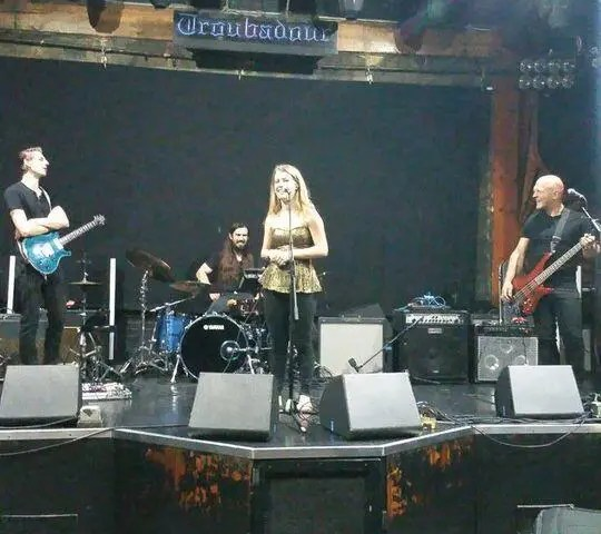 ThrowbackThursday BTS – Soundcheck at the Troub with Katie Garfield five years back (the place looks a little different when the lights are on during the daytime).