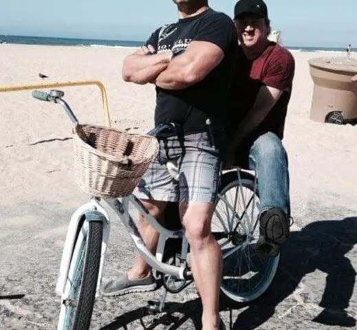 throwbackthursday to cruisin' my beach on a boss hog with drummer buddy @mltdrumz.