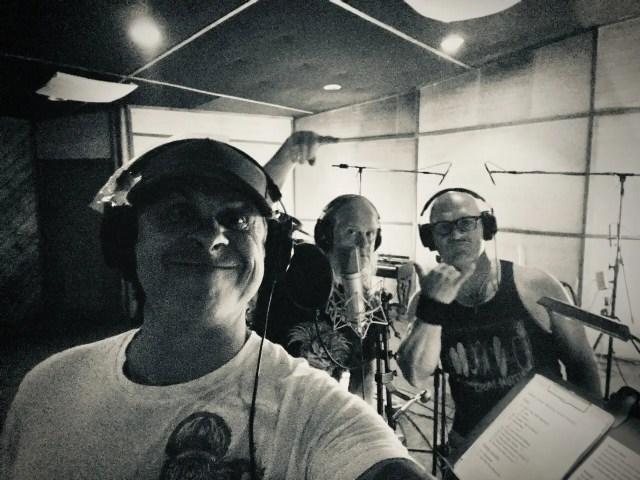 Maiden United in the recording studio