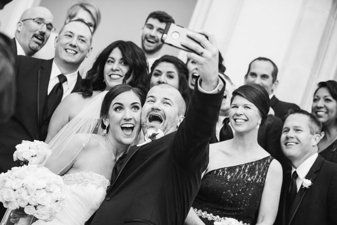 Wedding Selfie Chateau Cocomar Wedding Photographer Houston Melonhead Photo