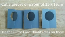 Photo 1 - Cut 3 times paper with circile thinlits die - size papers 15 x 16