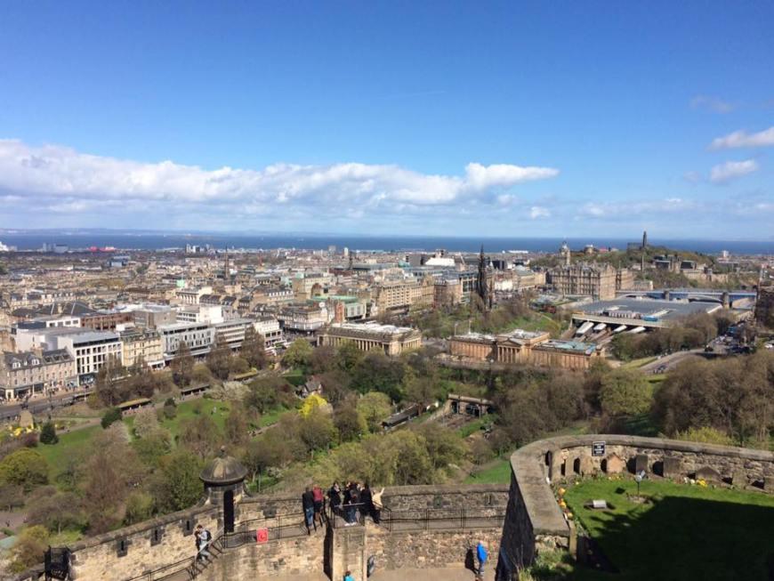 Qué ver en Edimburgo: Vistas panorámicas desde el castillo de Edimburgo