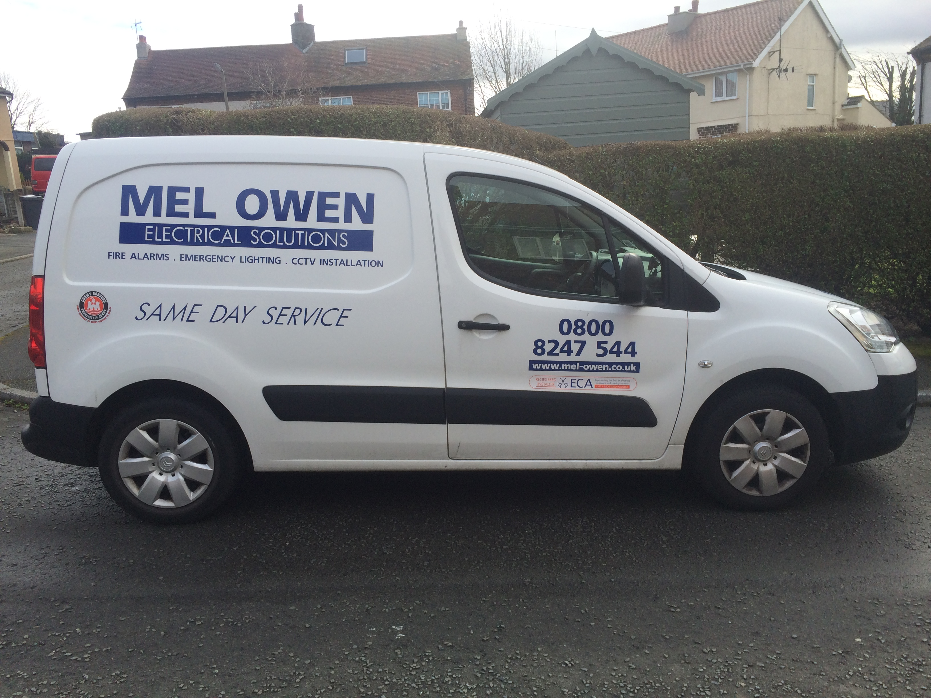 mel owen electrical solutions van