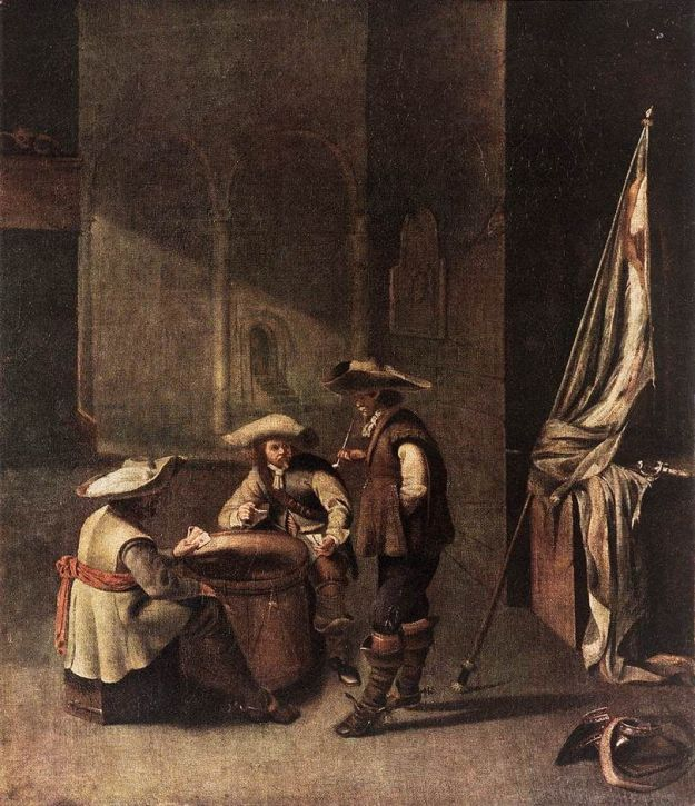 Guardroom with Soldiers Playing Cards