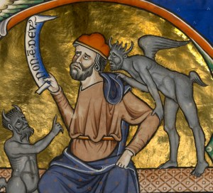 Non est Deus Banderole, Master of Ingeborg Psalter 1210