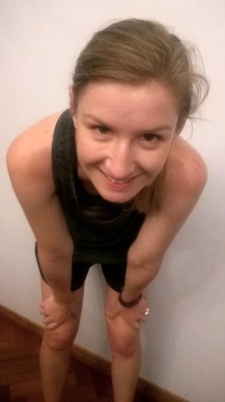 Post-run selfie Mel