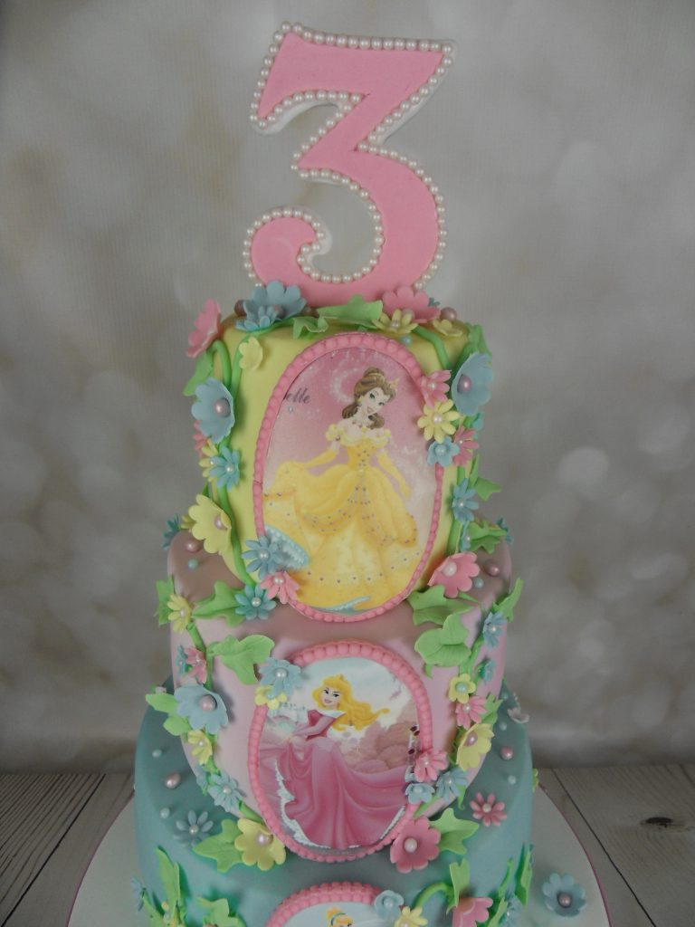 Disney Princess 3rd Birthday Cake  Mels Amazing Cakes