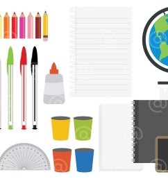 office stationery and art supplies clipart  [ 1160 x 772 Pixel ]