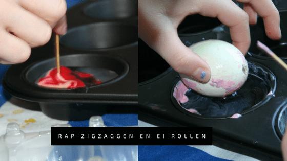 """Stap 5. Thema Pasen 2017 - DIY Pinterest - Paaseieren marble marmer schilderen met nagellak"""