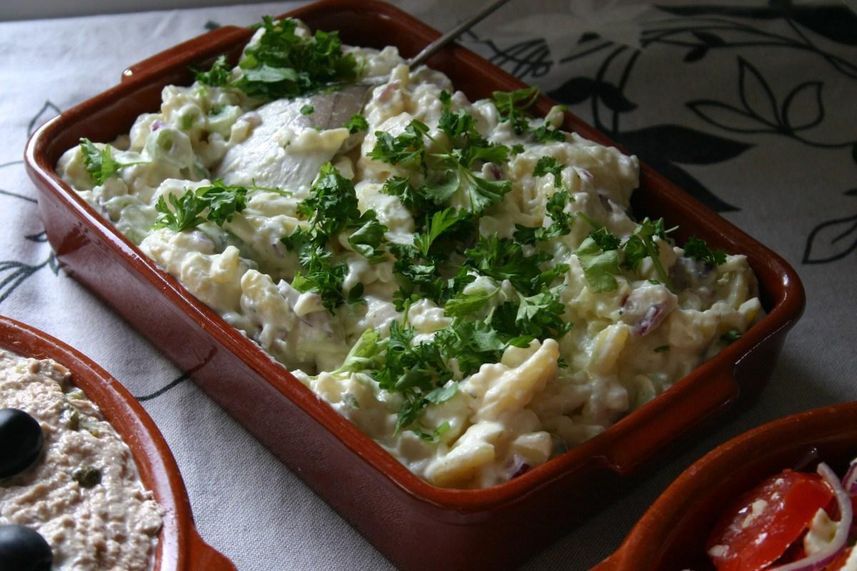 Spaanse koude aardappelsalade