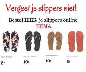 """Vergeet je slippers niet! HEMA dames slippers voor je meidenweekend naar Sevilla - mels Feestje & HEMA"""""""