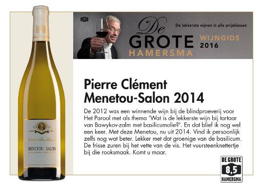 Pierre Clement - de Grote Hamersma een 8,5. Wat zijn de beste wijnhuizen in de omgeving van de Sancerre