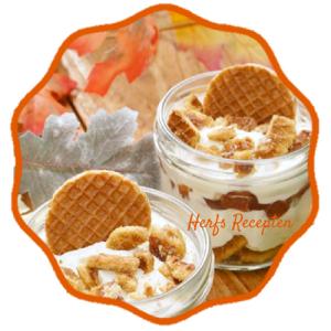 Herfst recepten. Wat een prachtig herfsttoetje! Geeft een een herfst sfeer. Bedacht door Beautylab. Een herfst trifle, die bestaat uit laagjes stroopwafels, stoofpeertjes en mascarpone, op smaak gebracht met vanille en pumpkin pie spice. Van het bericht 10x Herfst Sfeer Creëren met Mels Feestje. Herfst#2. Eten & drinken