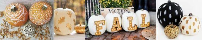 HerfstSfeer Creeren ☘️ Door pompoenen te versieren. Met mooie glitter leters of spray, gouden herfstblaadjes erop plakken lichtjes eromheen. 10x Herfst Sfeer Creëren met Mels Feestje