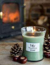 Herfst woodwick 🍂 Geur kaarsen. De geur Applewood geeft een herfstsfeer in huis. 10x Herfstsfeer creëren.