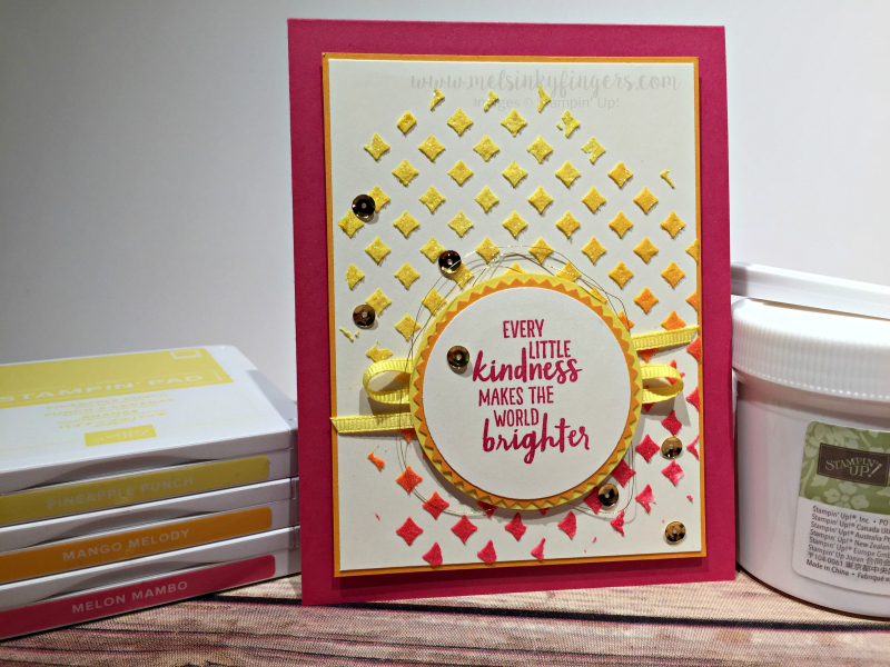 Ombre embossing paste background card