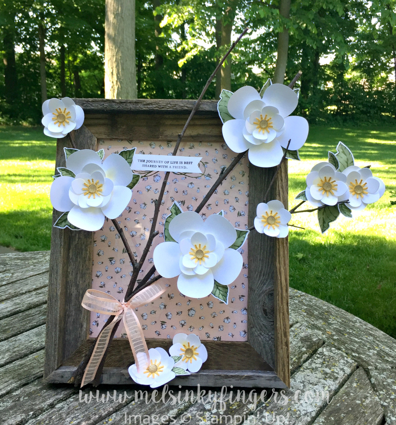 Magnolia Lane Framed Art using the Magnolia Lane product suite!  New from Stampin' Up!
