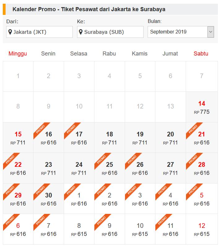tiket pesawat jakarta surabaya