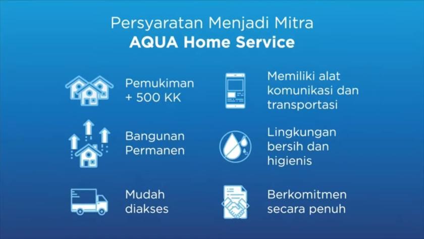 Syarat menjadi mitra AQUA Home Service