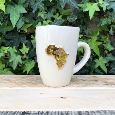 africa mug gold