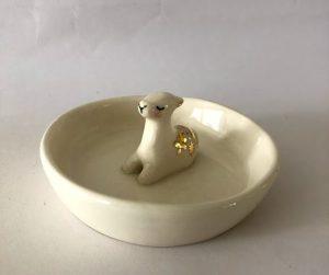 llama jewelry dish