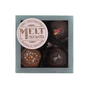 Box of Four Truffles: Tea Time Collection