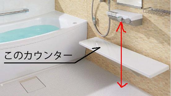 風呂のカウンター