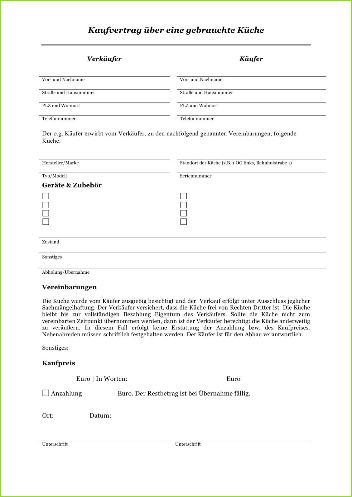 Kaufvertrag Küche Pdf  Dethleffs Aero Style 18 Db/18