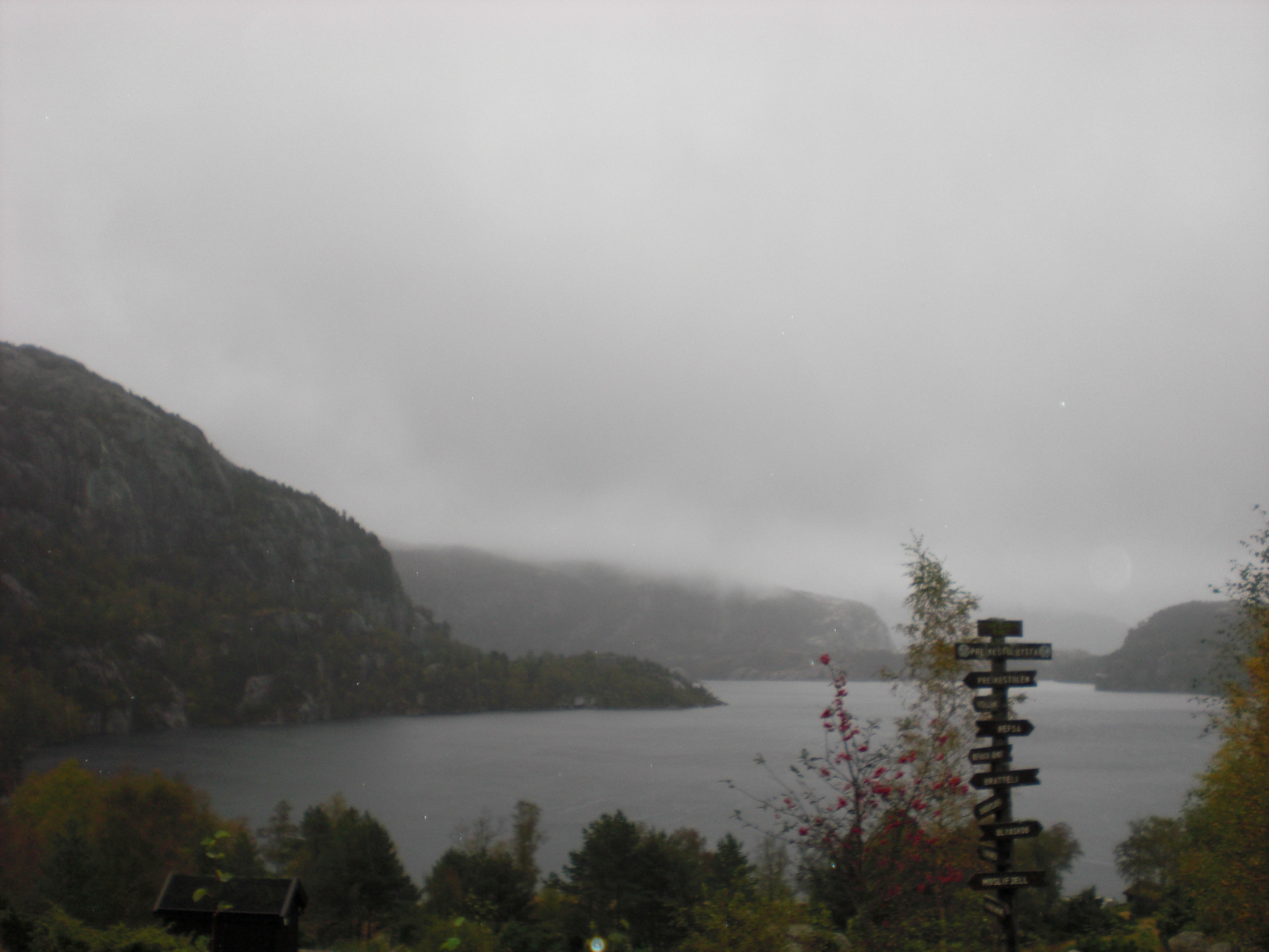 Lysefjord... somewhere in the fog - Preikestolen...