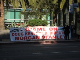 ... and protest banners.