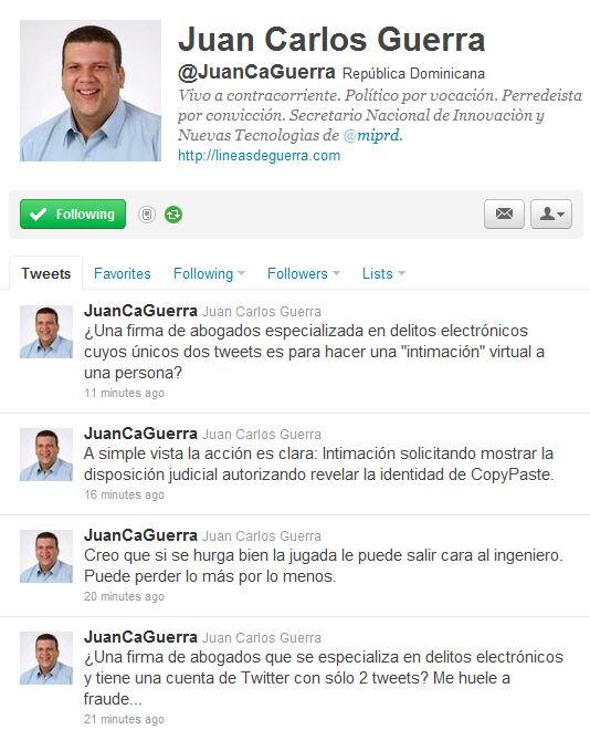 Twitter - Juan Carlos Guerra