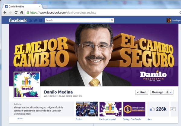 Danilo Medina en Facebook