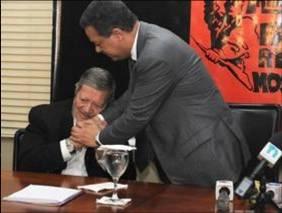 Leonel Fernández y Delio Gómez Ochoa en una escena de El Padrino