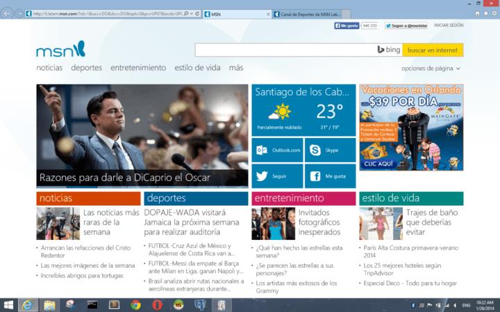 Portada MSN Latino