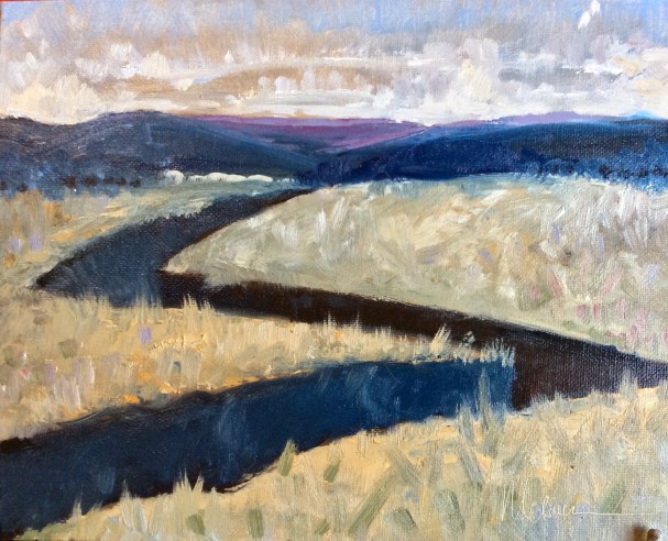 """Melwell Romancito, """"Jagged Canyon,"""" oil on canvasboard, 8x10"""