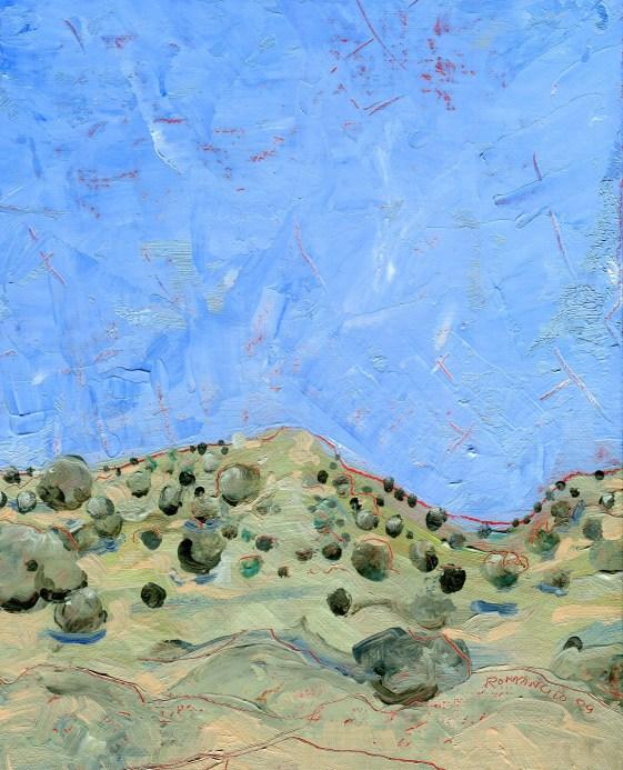 "Melwell Romancito, ""Near Pilar,"" oil on canvasboard, 9 x 12"