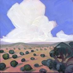 """BuildingTower,"" Melwell Romancito, oil on claybord, 6x6"
