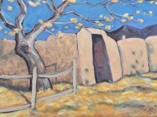 """""""Old Spanish Gate,"""" oil on panel by Melwell Romancito, 8x10"""